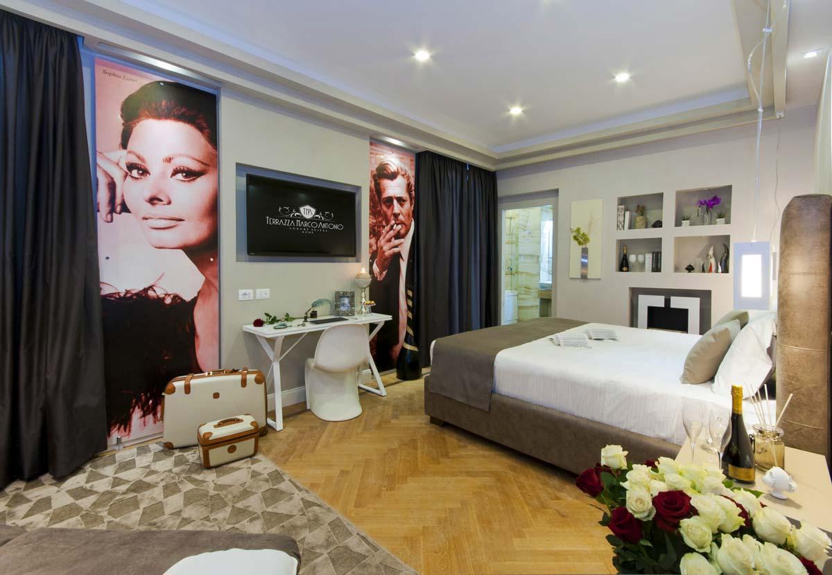 Luxury Suite Terrazza Marco Antonio Hotel Madrid Roma
